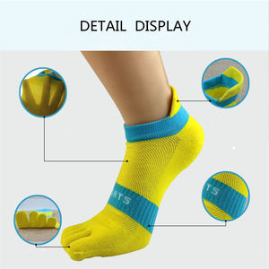 Image 5 - Pure cotton toe socks men mesh breathable five finger sock casual ankle socks new fashion mens five toe sock 6 pairs/lot