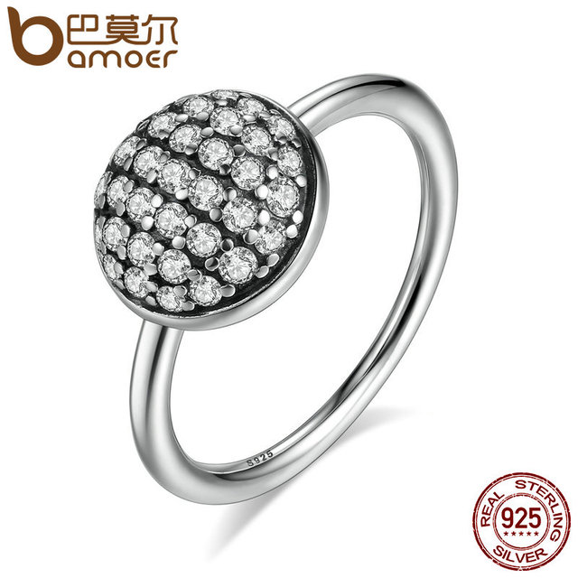 Sterling Silver Dazzling Droplet Clear CZ Ring