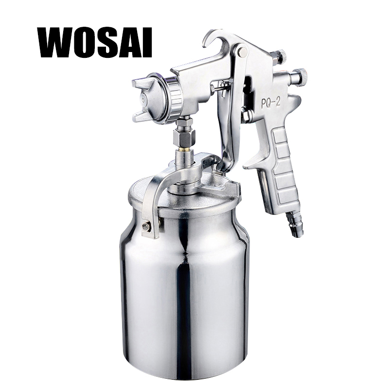 WOSAI 1000ML Pneumatic Spray Gun Airbrush Sprayer Alloy Painting Atomizer Tool With Hopper For Painting Cars PQ-2