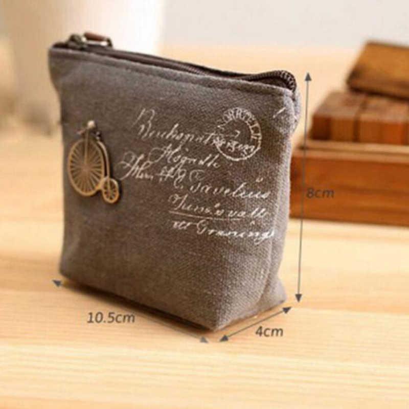 1 Uds Lino lindo estuche para lápices kawaii Torre bicicleta blanco gris moneda monedero Mini carteras bolsa pelo bolsa de bolsa