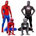 Homem-aranha veneno preto crianças adulto superhero lycra spiderman hero zentai halloween costume com máscara