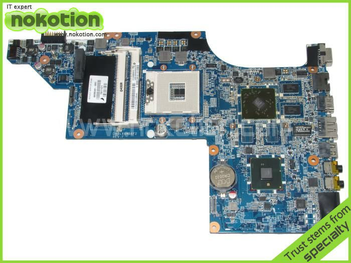 NOKOTION Hot sale 603643-001 laptop motherboard for HP DV6-4000 HM55 Fully tested Mainboard Mother Boards DA0LX6MB6F2 top quality for hp laptop mainboard 615686 001 dv6 dv6 3000 laptop motherboard 100% tested 60 days warranty