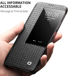 Image 4 - QIALINO Fashion Genuine Leather Flip Case for Huawei Mate 20 Stylish Business Ultra Slim Smart View Phone Cover for Mate20 Pro