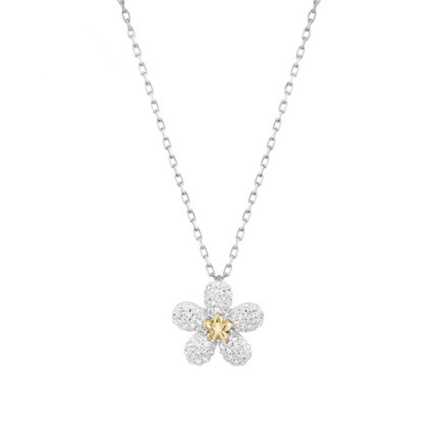 2018 TOUGH FLOWER Necklace, white, mixed with a variety of coatings.Official 1:1 has the ...