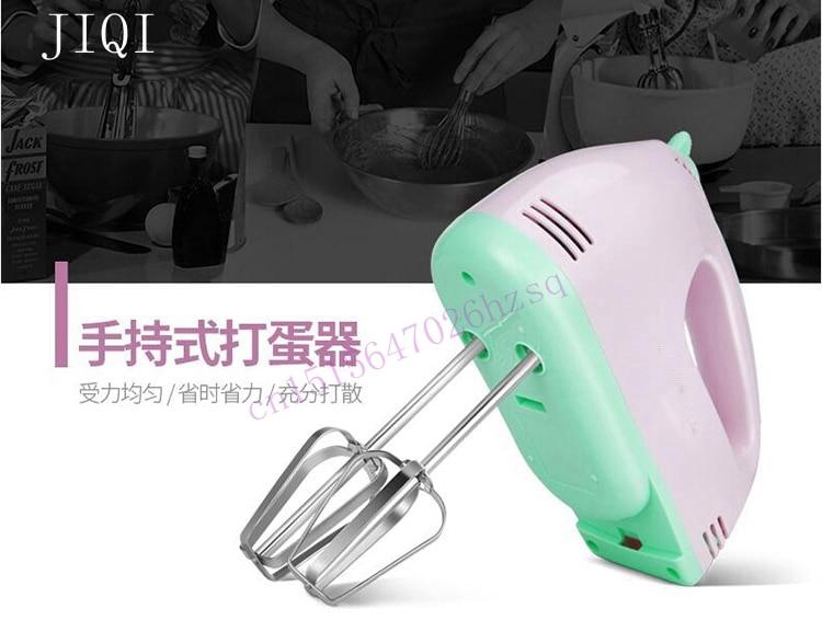 JIQI Electric Handheld Food Mixer Mini 304 Stainless Steel Cream Mixer Egg Whisk Blender Dessert Baking Copper Motor Durable