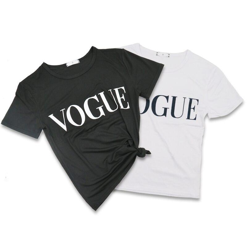 Plus Size S-L Harajuku Summer   T     Shirt   Women New ArriFashion VOGUE Printed   T  -  shirt   Woman Tee Tops Casual Female   T  -  shirts