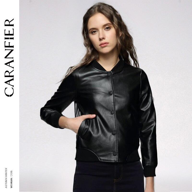 CARANFIER femmes haute qualité PU cuir veste printemps automne décontracté mode chaud timbre lettres manteau Biker veste en cuir synthétique polyuréthane en cuir manteaux