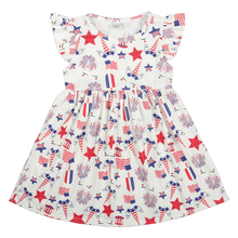 Child Baby Girl 4th of July patriotic unicorn summer dress