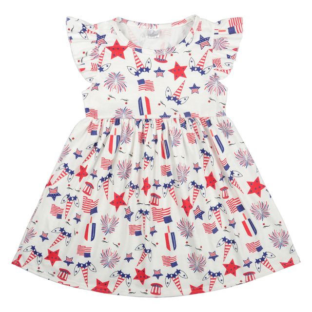 8637cf4b07177 Child Baby Girl 4th of July patriotic unicorn summer dress