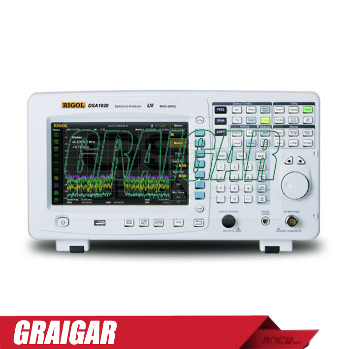 DSA815 spectrum analyzer frequency domain 9 kHz to 1.5 GHz RBW 100 Hz to 1 MHz