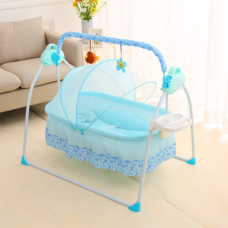 Electric Cradle Shaker Flat-Lay-Crib Bed Baby Newborn Automatic Intelligent