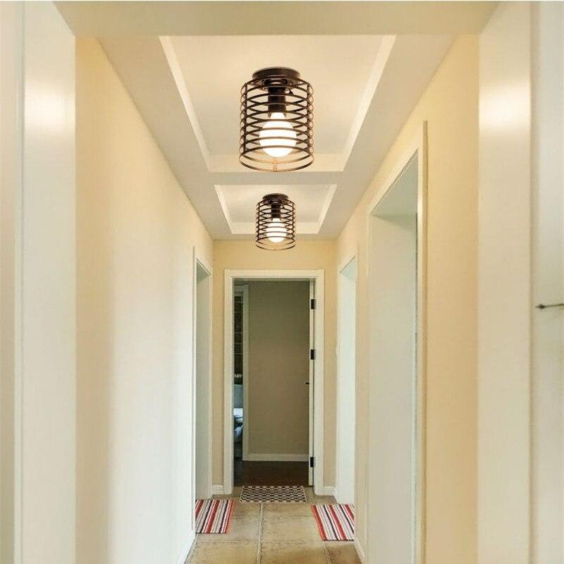 Jahrgang Industrielle Rustikalen Flush Mount Decke Licht Metall Lampe Leuchte Amerikanischen stil dorf Stil Kreative Retro Licht Lampen