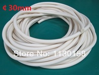 FREE SHIPPING AG Extrued Silicone Sponge Cord 30mm Diameter Closed Cell Silicone Foam Rod 100 Virgin