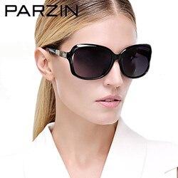 Parzin Polarized Sunglasses Women Bamboo Design Women's Sun Glasses Fashion Shades Female Driving Glasses Black With Case 9502