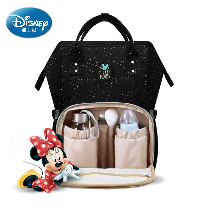 Disney Large Capacity Baby Bag Water proof USB Heating Diaper Bag Toddler Mommy Backpack Cartoon Micky