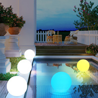 Solar Powered D35CM Colorful LED Ball Outdoor Decoration Light Sensitive Night Lamp Sphere Swimming Pool RGB LED Floating Balls