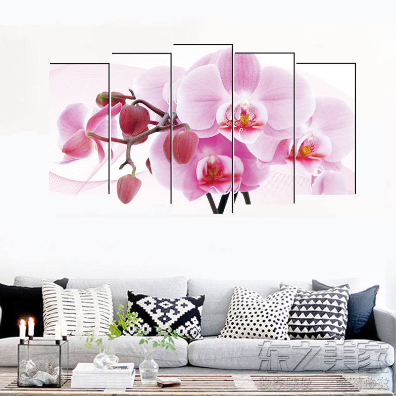 Phalaenopsis pastoral canvas painting realist art prints 5 psc deco wall pictures for lobby pathway bedroom office kitchen