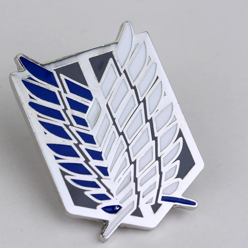 MQCHUN 2017 Mode Japan Anime Smykker Attack on Titan Pins Brosch Legioner Badge Lapel Pin Broscher til fans Samling