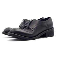 Goodyear/обувь высокого качества из коровьей кожи с кисточками на молнии, оксфорды ручной работы, туфли в стиле Дерби