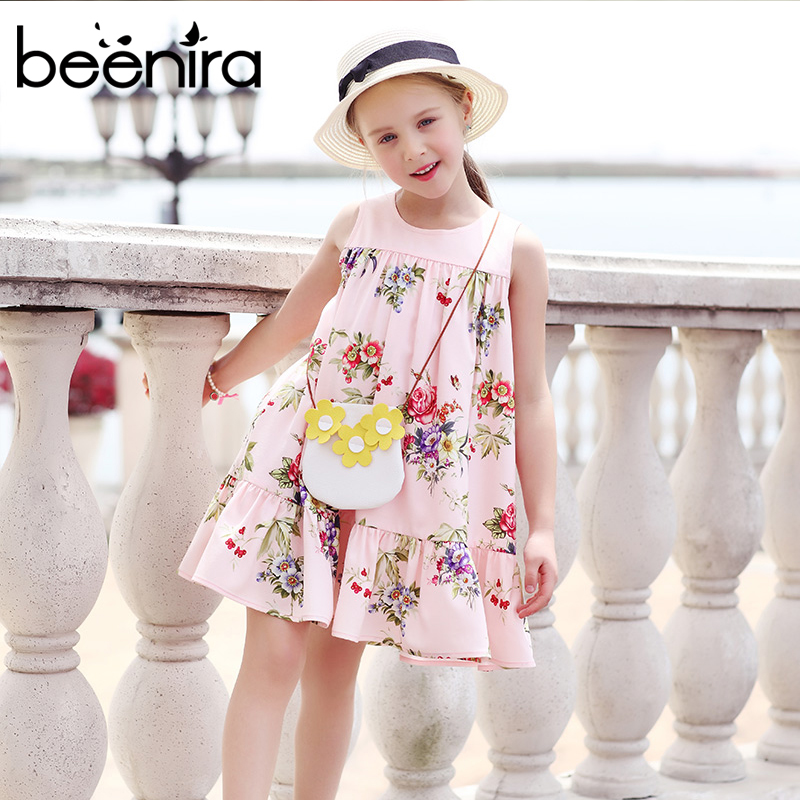 Girls Summer Dresses Toddler Clothes 2017 Brand Floral Beach Dresses for Girls Princess Party Dress European and American Style