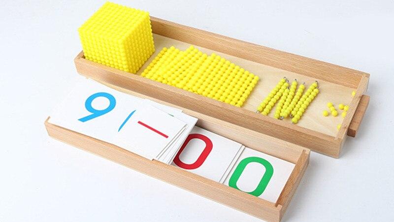Купить с кэшбэком New Montessori Baby Toys Bank Game Set Maths Baby Educational Toys Baby Gifts Early Childhood Education Preschool Training Math