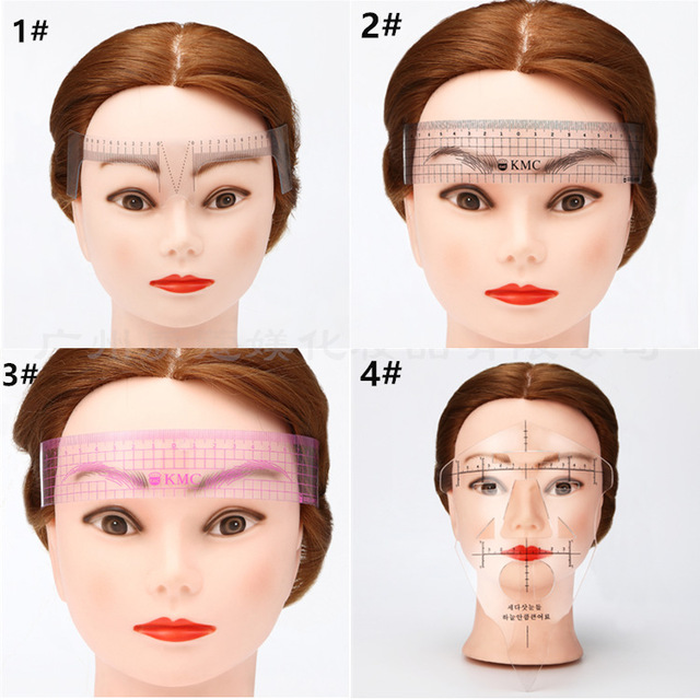 1PC Reusable Semi Permanent Eyebrow Ruler Eye Brow Measure Tool Eyebrow Guide Ruler Microblading Calliper Stencil Makeup 4