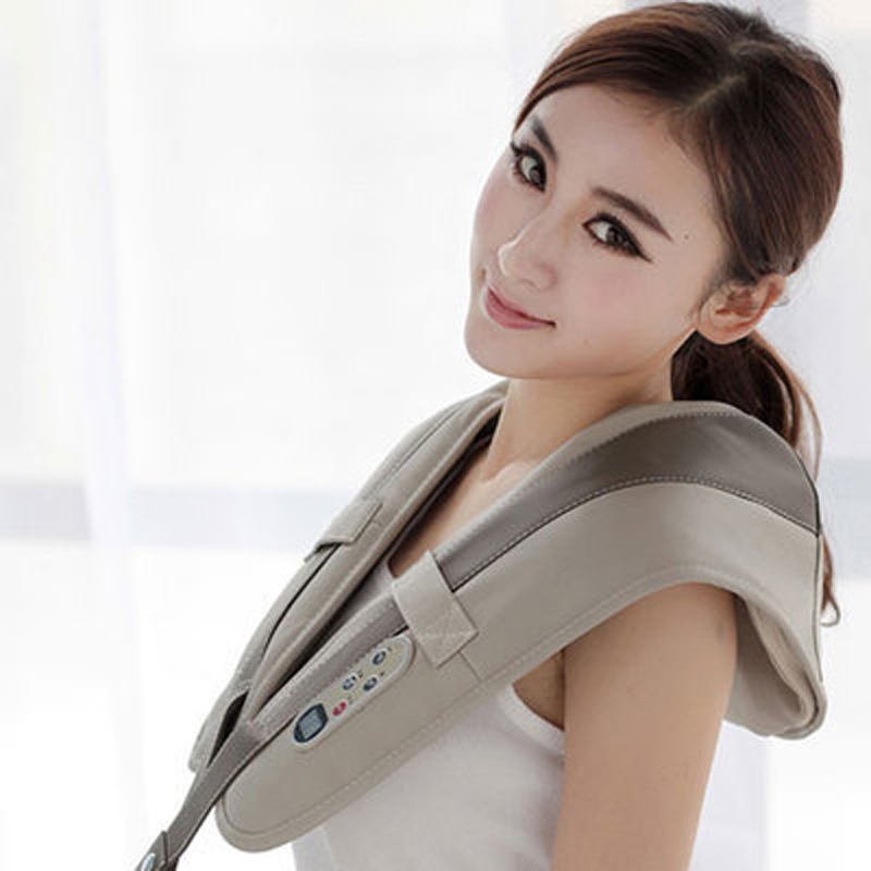 Shiatsu Cervicale Dos et le Cou Masseur Châle Électrique Rouleau Chaleur Dispositif Mince Ceinture De Massage Chine Maison De Voiture De Massage Machine