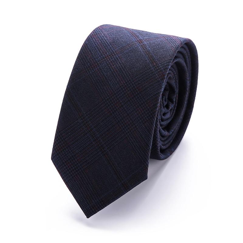 2018 New Design Tie Men 6 Cm Cotton Necktie For Men Fit For Business Fashion Party Skinny Slim Narrow Gavata Mens Corbatas
