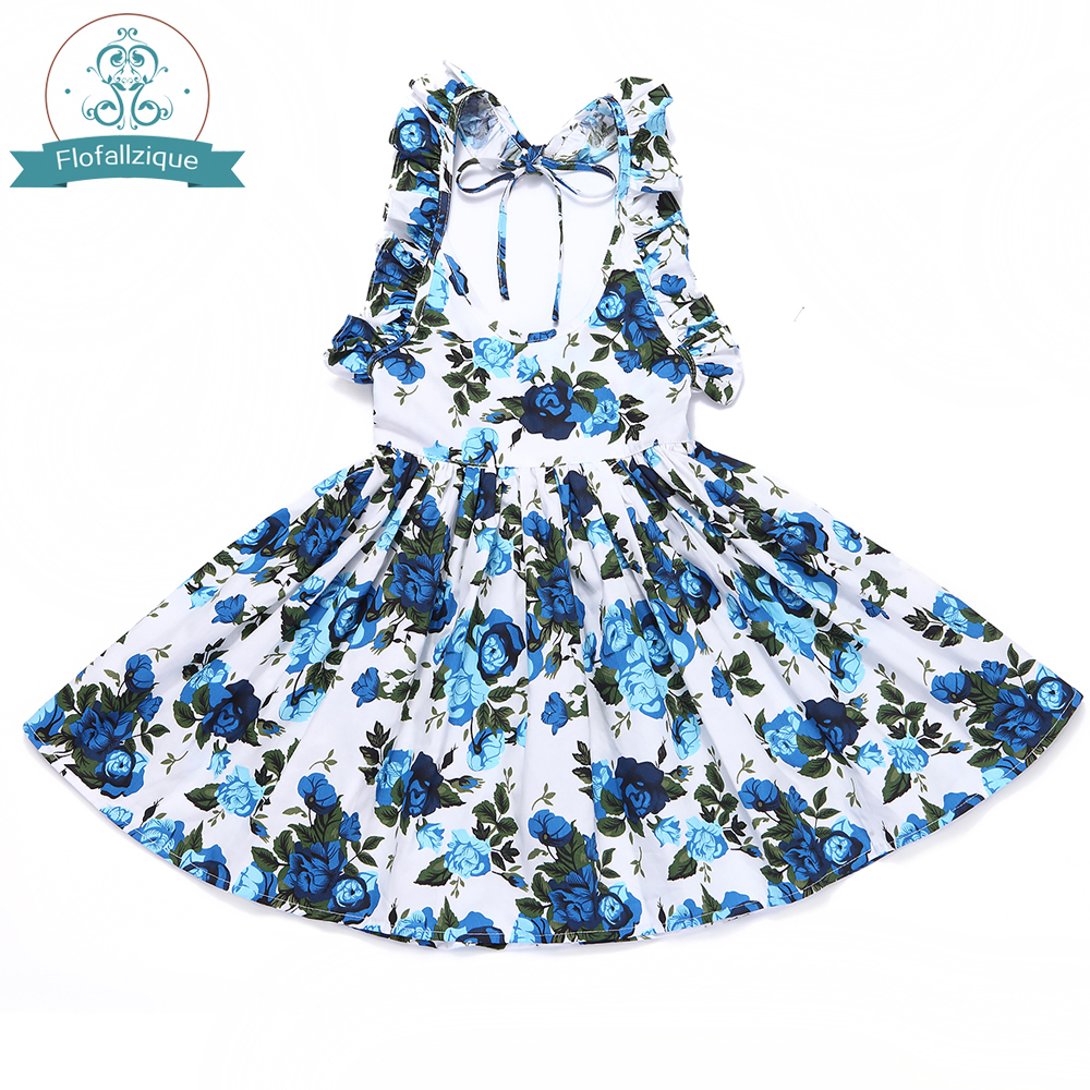 b97a2c99c Toddler Girls Dress Beach Summer 2018 Brand Cotton Vintage Floral ...