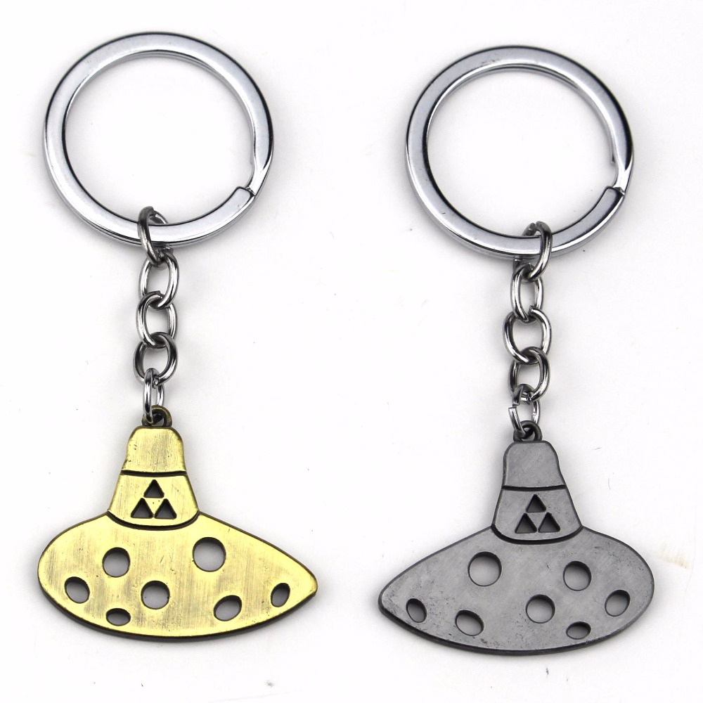 New Game Legend of Zelda Keychain Llaveros Triforce Ocarina Of Time Key Chain Ring Chaveiro image
