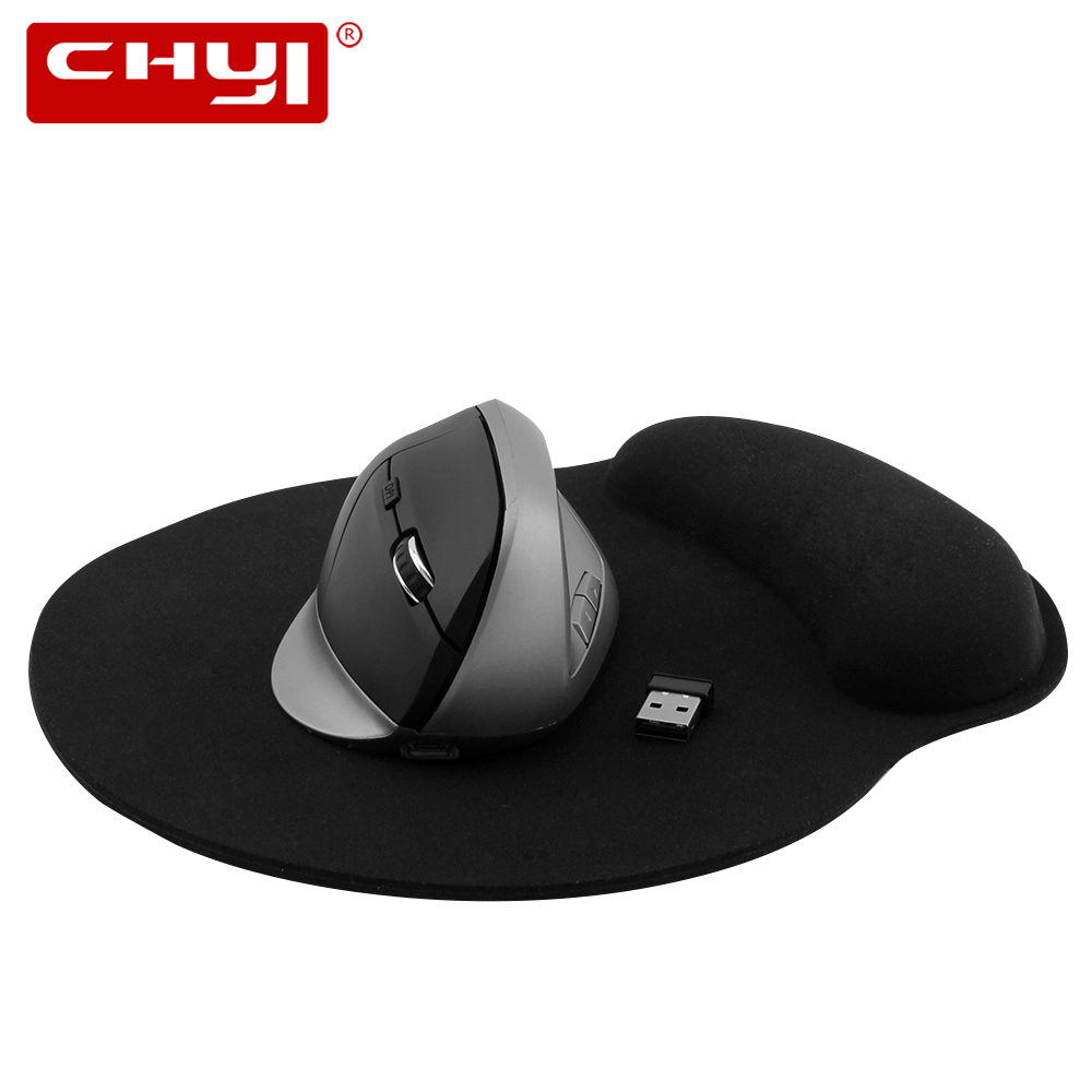 все цены на CHYI Wireless Vertical Mouse Gamer Rechargeable Computer Mice Ergonomic 5D Optical Mause With Wrist Rest Mouse Pad For Game PC онлайн