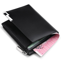 WILLIAMPOLO Brand Men Wallets Mini genuine leather Business Card Holder Bank Credit Card ID Holders Male Coin Purse Men Wallet