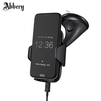Abbery Multi Funtion Qi Wireless Charger Charging Pad Phone Holder Wireless Car Charger For Samsung S6