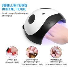 1pcs Panda nail led gel Lamp 36W LED UV  Nail Art Tool Smart Phototherapy Nails Manicure Glue Machine
