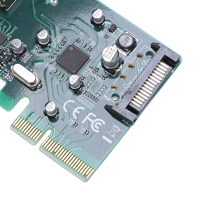 Usb 3.1 Type-A & Type-C Ports Pci-Express Card For Desktop Pc,10Gbps Pakistan