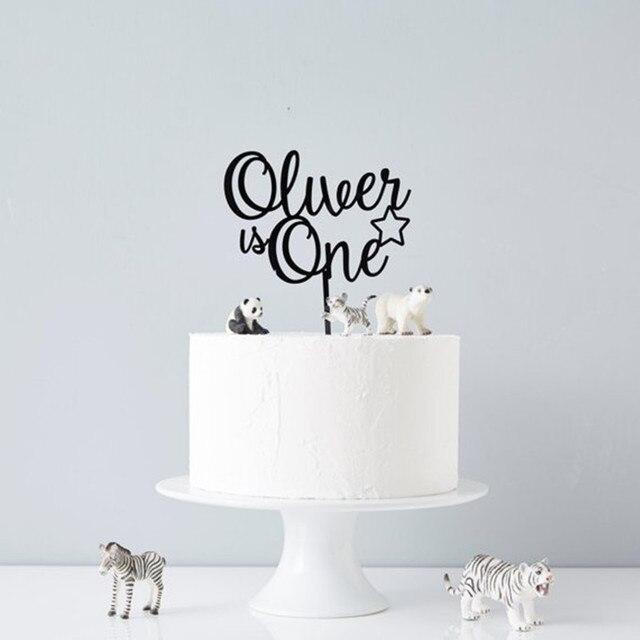 US $7 99  Custom Happy Birthday Decoration Cake Topper Personalized Rose  Gold Black Name Birthday Party Cake Topper Party Gift Decorations-in Cake