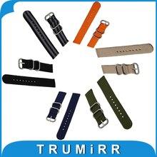 18mm 20mm 22mm 24mm Nylon Reloj Banda de Univeral Zulu Correa de Tela correa de muñeca pulsera negro azul gris marrón verde orange + herramienta