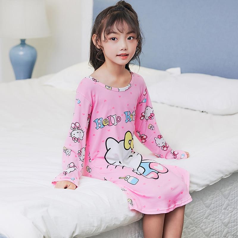 2ecce6e670 A% A-479 Girls Lone Sleeve Dress Summer Children Dress Nightgown Kids  Dresses Night