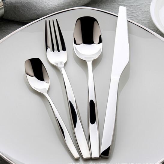 Whole Dinnerware Stainless Steel Cutlery Flatware Restaurant Dining Knife Steak Fork Soup Spoon Small Tea