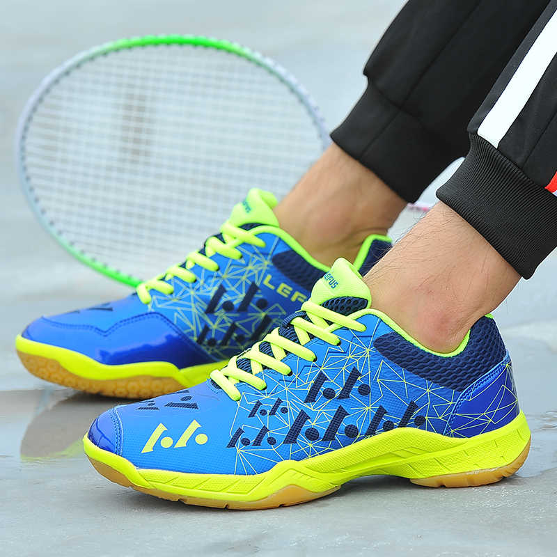 Brand Men Badminton Shoes High Quality EVA Muscle Anti-Slippery Training Professional Sneakers Women Sport Badminton Shoes Plus