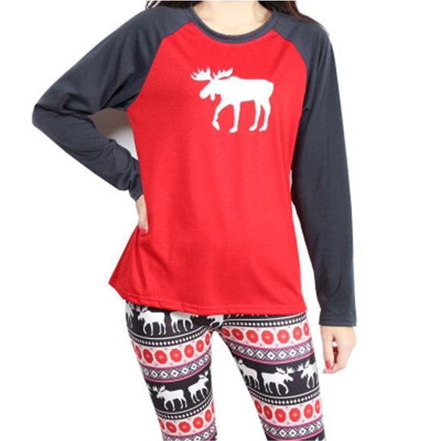 Mulheres Pijama Adulto-Veado-Pijama Primavera Outono Inverno Animal Pijama Para Adultos Pijamas Mujer Quente Sleepwear Pijama de Algodão