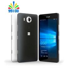 Восстановленный Оригинальный разблокированный сотовый телефон Nokia Lumia 950/950XL 3 ГБ + 32 ГБ одна/две sim-карты Windows 4G LTE 20 Мп WIFI GPS