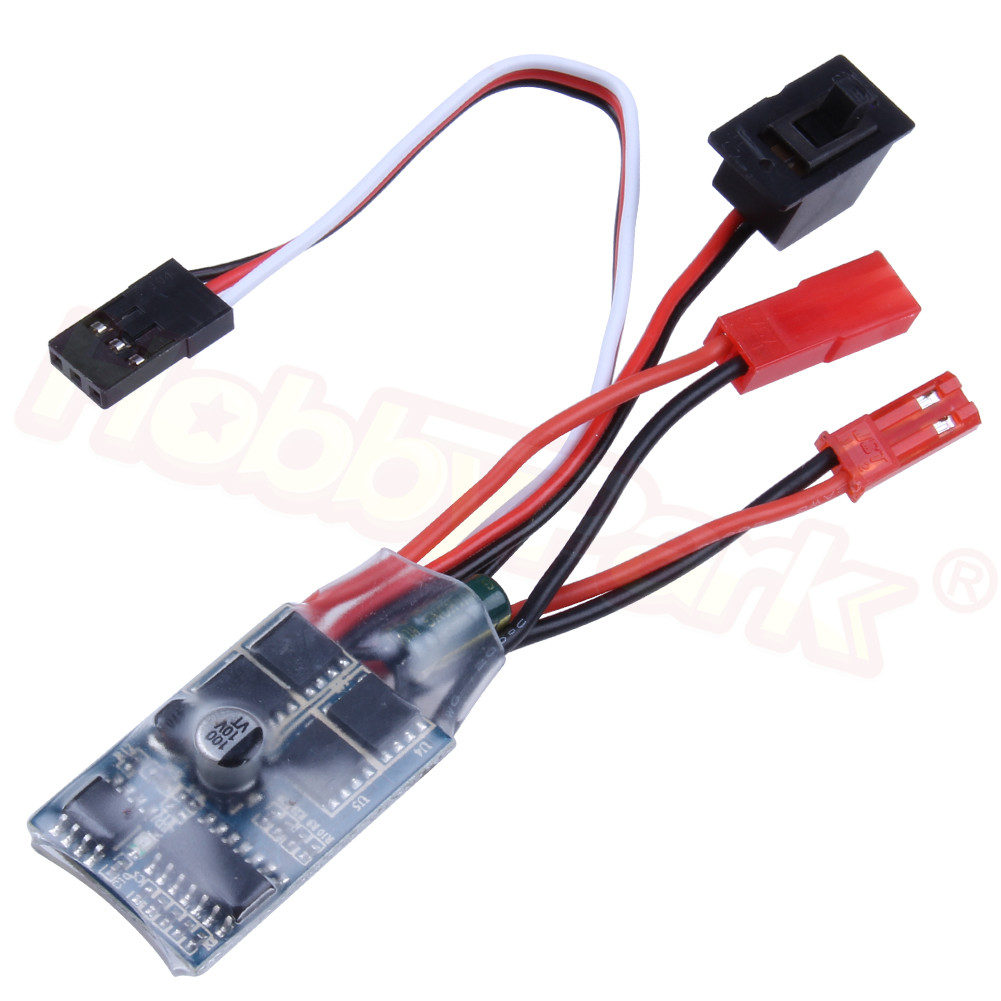 <font><b>30A</b></font> <font><b>ESC</b></font> <font><b>Brushed</b></font> Speed Controller for 1/12 1/16 1/18 1/24 RC Car Military Truck Crawler WPL C24 B16 B24 B36 Henglong Boat image