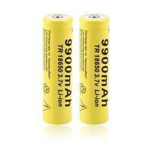 Recarregável para LED Original Estoque 2 PCS 3.7 V 18650 9900 MAH Li-ion Bateria Lanterna Tocha HOT Novidade Gota