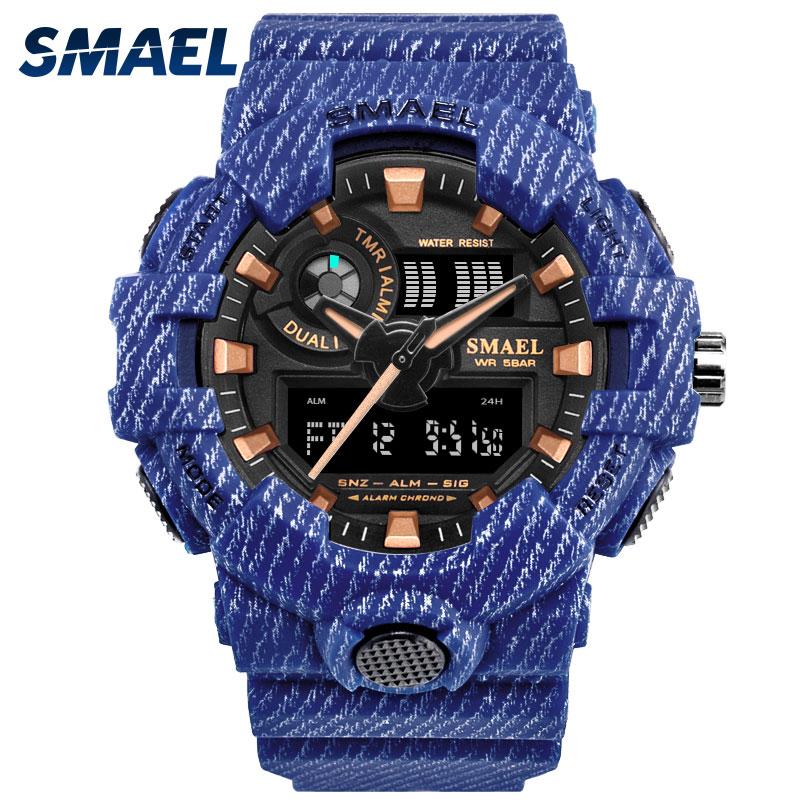 Vaquero deporte reloj militar relojes ejército Digital Writwatch LED 50 m impermeable de los hombres Saat 8001 reloj de los hombres marca de lujo