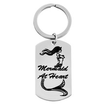 LASPERAL 1PC Stainless Steel Key Chains Carved Charming Merm
