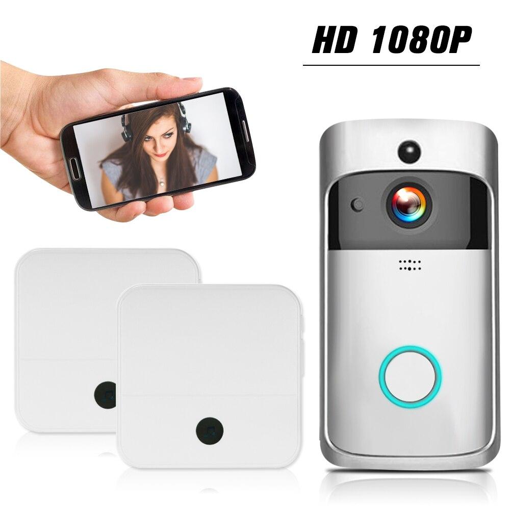 WiFi Smart Wireless Security DoorBell HD 1080P Visual Intercom Recording Video Door Phone Remote Home Monitoring