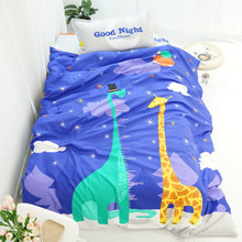hot deal buy 100% cotton cartoon hot sale bedding set winter thickening bed linens 3/4pcs duvet cover set pastoral bed sheet duvet cover