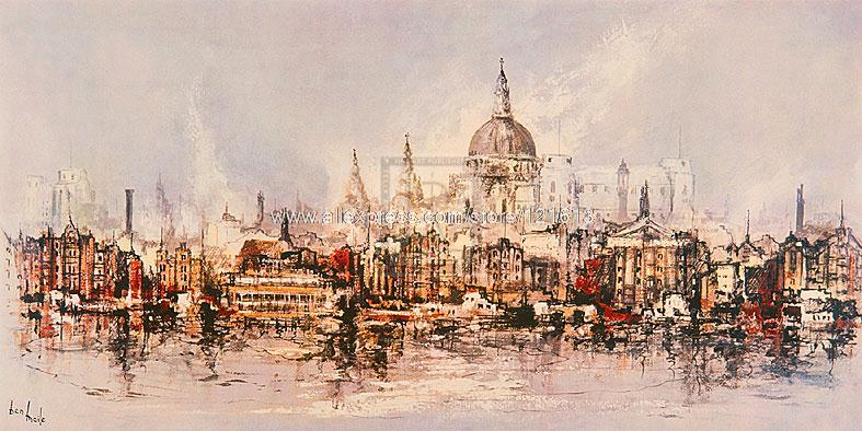 Ben Maile Thameside Architecture painting Or paints Various Sizes ...