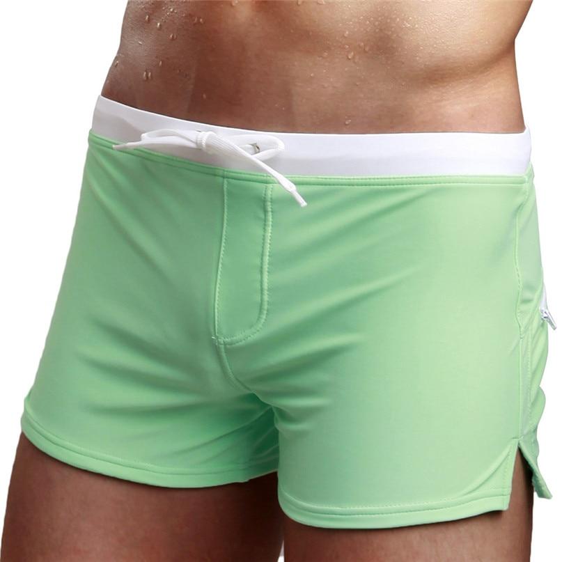 Buy 2018 New Mens Swim Briefs Swimwear Boxer Shorts Boxers Underwear Men Brand Underpants Comfortable Breathable Male Panties #2J19